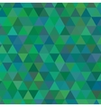 green triangle geometric mosaic card vector image vector image