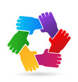 group of protecting hands icon vector image vector image