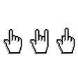 Hand cursor set vector image
