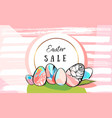 hand drawn abstract creative easter sale vector image vector image
