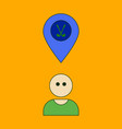 icon in flat design golfer logo vector image vector image