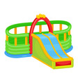 inflatable playground slide icon attraction and vector image