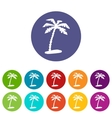 Island web flat icon vector image vector image