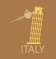 italy famous landmark silhouette tower of pisa vector image vector image