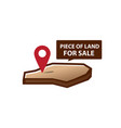 land for sale icon vector image vector image