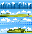 landscape template set vector image