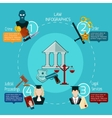 Law Infographics Set vector image vector image