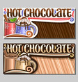 layouts for hot chocolate vector image