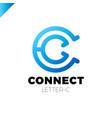 letter c logo icon design template elements vector image vector image