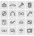 line hipster icon set vector image vector image