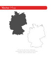 map germany isolated black vector image vector image