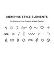 memphis style elements vector image vector image