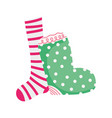 merry christmas celebration dotted and striped vector image
