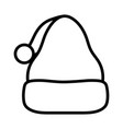 merry christmas celebration hat santa thick vector image