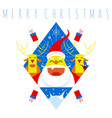 merry christmas symbol vector image