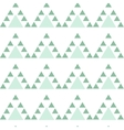 Mint blue triangle seamless pattern vector image