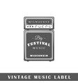 music label vector image vector image