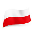 national flag of poland white and red horizontal vector image vector image