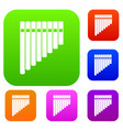 pan flute set collection vector image vector image