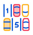parking place numbering icon outline vector image