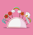 party booth props cartoons vector image