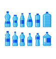 plastic water bottle icon blue liquid container vector image vector image