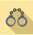 police handcuffs icon flat style vector image vector image