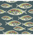 seamless pattern of fish Abstract texture elements vector image