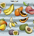 seamless pattern with fruit vector image