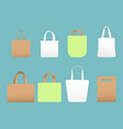 set of shopping eco canvas vector image vector image