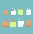 set shopping eco canvas vector image