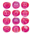 Set with wedding icons vector image vector image