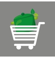 shopping cart food vegan vector image