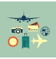 simple universal travel set to use for web vector image vector image
