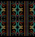 striped tapestry floral seamless pattern vector image vector image