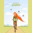 summer wonderful girl vector image vector image