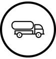 tank truck icon vector image vector image