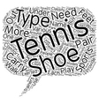 Tennis Shoes for Beginners text background vector image vector image
