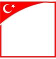 turkish flag symbol square border corner vector image vector image