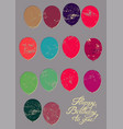 typographical retro grunge birthday card vector image vector image