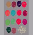 Typographical retro grunge birthday card