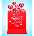 Valentines Day Shopping Concept vector image
