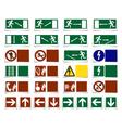Warning symbols vector image vector image