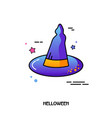 witch hat icon halloween sticker vector image vector image