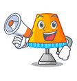 with megaphone character table office lamp in vector image vector image