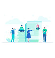 workflow - flat design style vector image vector image