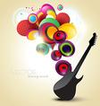 artistic guitar vector image
