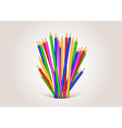 Back to school background formed with pencils vector image