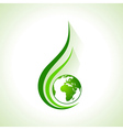 Ecology concept icon with earth vector image