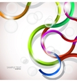 colorful abstract curves vector image